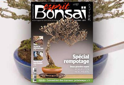 Esprit Bonsaï n°87 Avril-Mai 2017 - Spécial rempotage